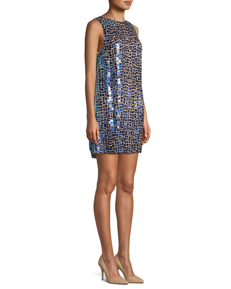 Clyde Embellished A-Line Shift Dress