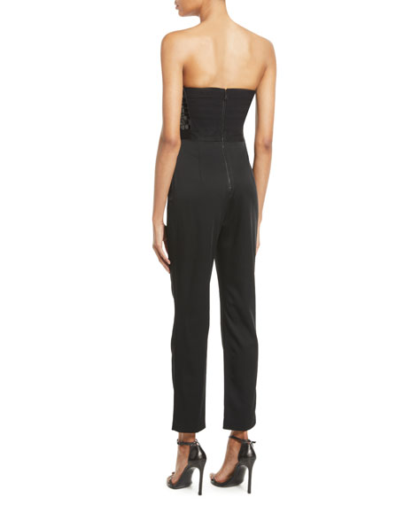 Jeri Strapless Sequin Top Jumpsuit by Alice + Olivia