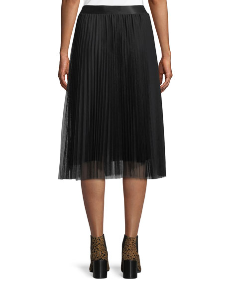 Tess Pleated Tulle A-Line Skirt