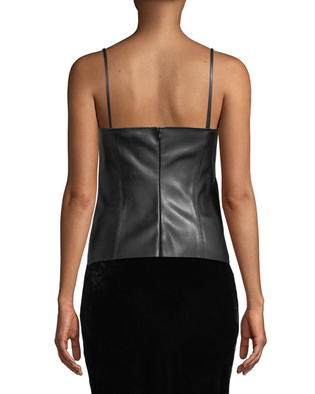 Bedford Faux-Leather Tank Top