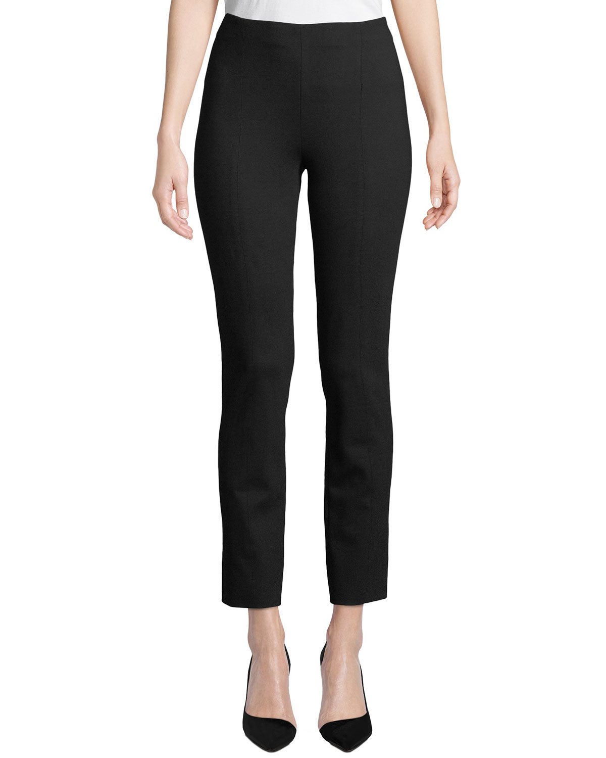 Misook Plus Size Ponte Slim-Leg Pants