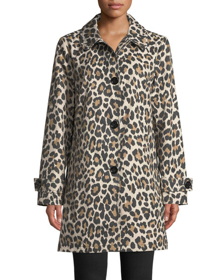 kate spade new york leopard print transitional jacket | Neiman Marcus