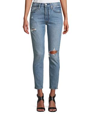 f20daaf82 Levi's Premium 501 Distressed Ankle Skinny Jeans