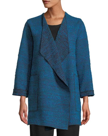 Caroline Rose Free-Flowing Full-Sleeve Tweed Saturday Topper Jacket