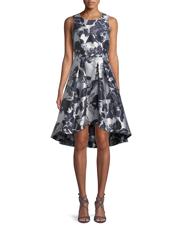 9f458bb0b43a Shoshanna Coraline Fit-&-Flare Dress in Metallic Floral Print ...