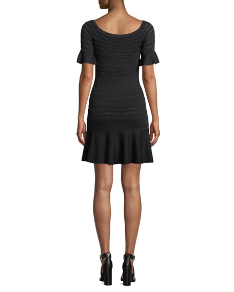 Image 2 of 3: Alexis Maila Short-Sleeve Knit Flounce Dress
