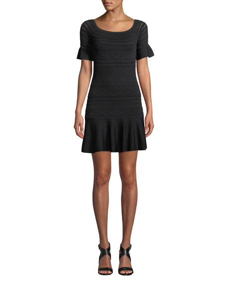 Image 1 of 3: Alexis Maila Short-Sleeve Knit Flounce Dress