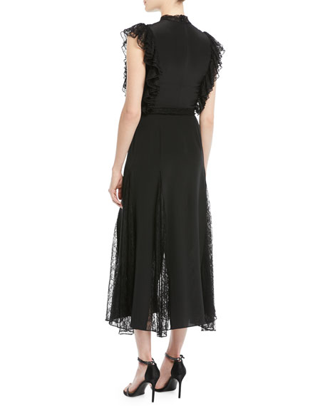 Image 2 of 3: Alexis Sterling Sleeveless Lace Godet Midi Dress