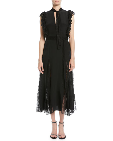 Image 3 of 3: Alexis Sterling Sleeveless Lace Godet Midi Dress