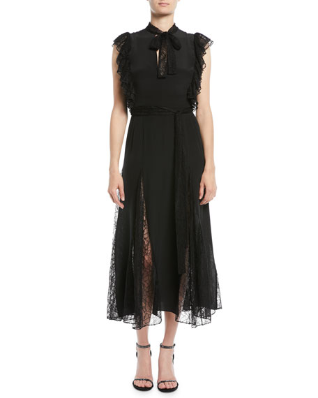 Image 1 of 3: Alexis Sterling Sleeveless Lace Godet Midi Dress