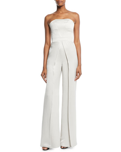 Noemie Strapless Wide-Leg Jumpsuit
