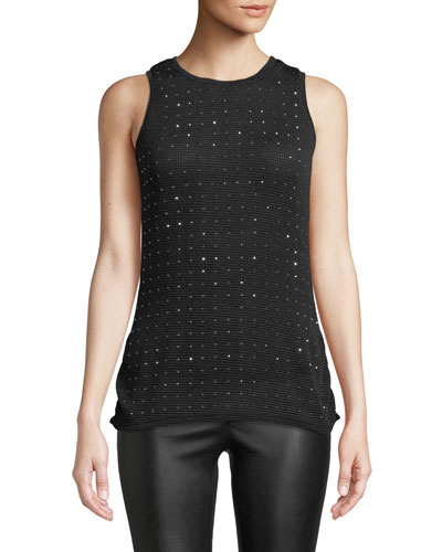 Sparkle Time Tank With Mesh Backing, Plus Size