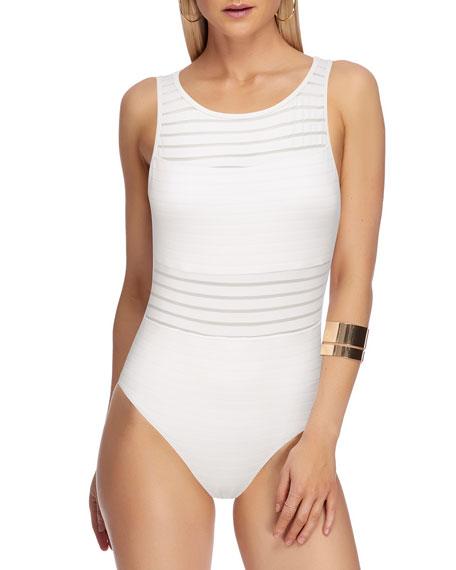 JETS by Jessika Allen Aspire High-Neck One-Piece Swimsuit