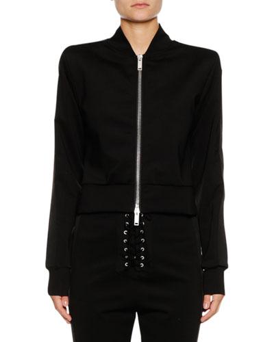 Zip-Front Side-Stripe Track Jacket