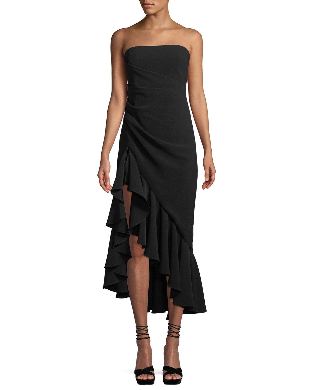 cinq a sept Gramercy Strapless Flounce Cocktail Dress ...