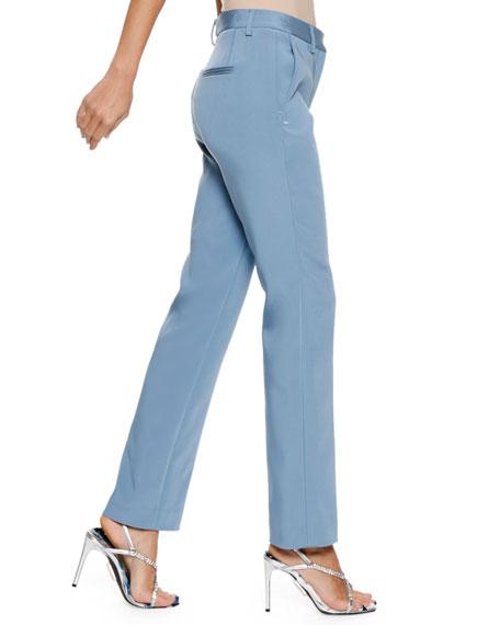 Straight-Leg Stretch Cigarette Pants