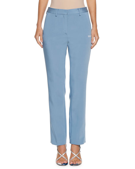 Straight-Leg Stretch Cigarette Pants