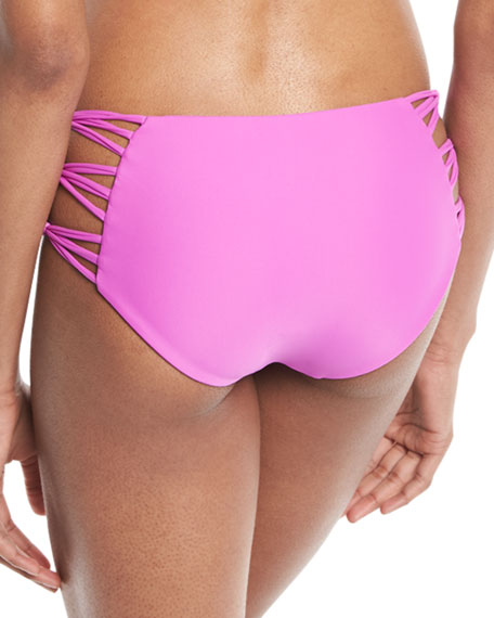 Barcelona Strappy-Sides Swim Bikini Bottoms