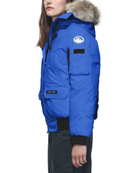 Image 2 of 3: Canada Goose Chilliwack PBI Bomber Coat with Fur Hood