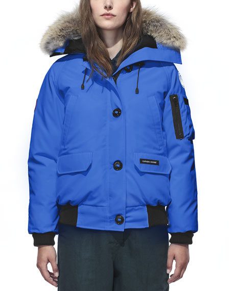 Image 1 of 3: Canada Goose Chilliwack PBI Bomber Coat with Fur Hood