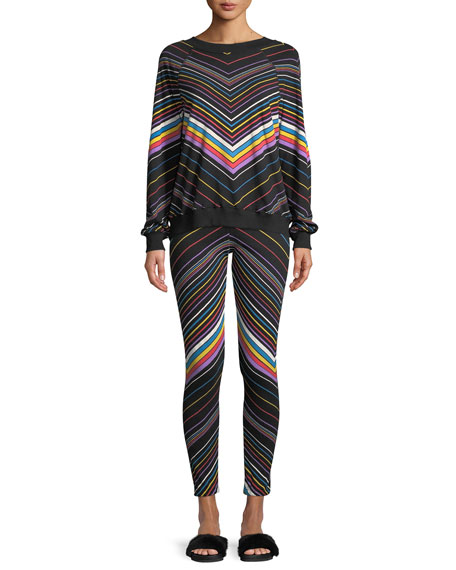 Knox Chevron-Stripe Sweatpants