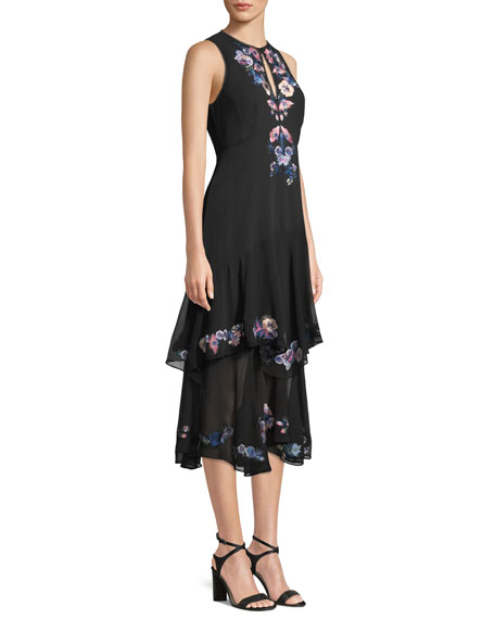 Journey Dress w/ Floral Embroidery
