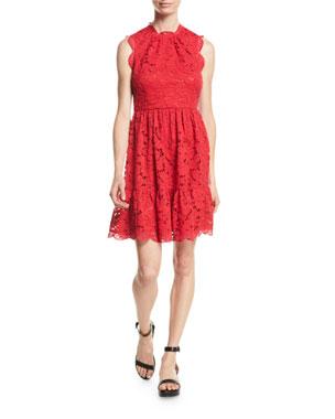 8feeaaf24 kate spade new york poppy field lace dress w/ scalloped trim