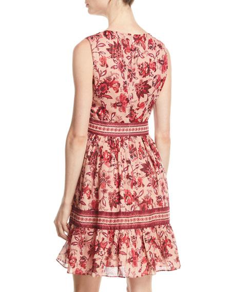 sleeveless paisley blossom dress