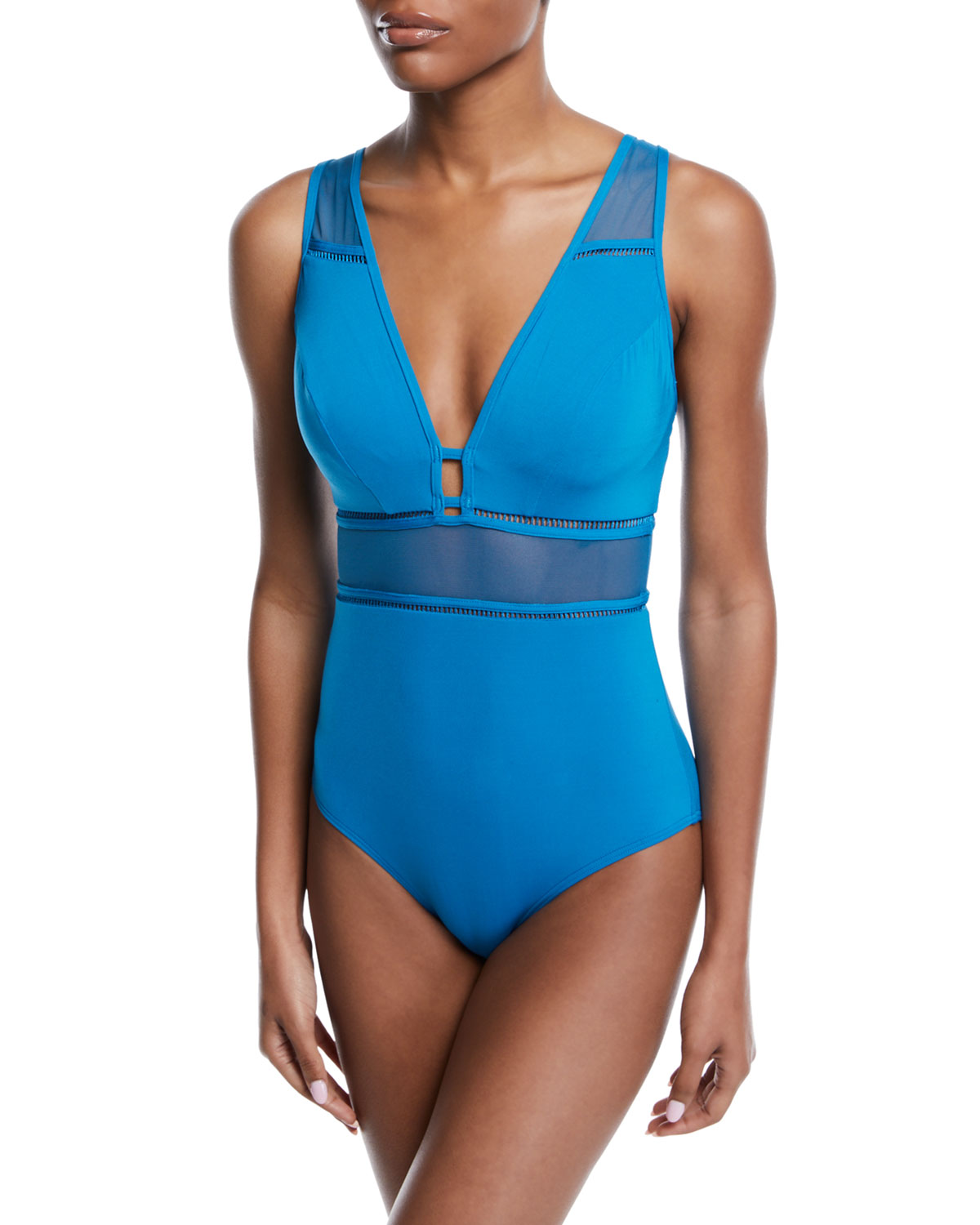 e85adcbd630 JETS by Jessika Allen Aspire Plunging Underwire One-Piece Swimsuit (D DD  Cups