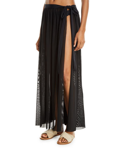 Aspire Mesh Wrap Coverup Skirt