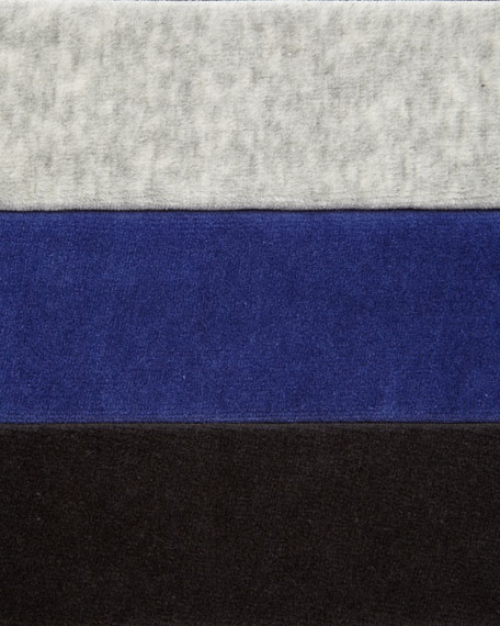 Joan Vass Petite Velour 4-Pocket Long Jacket