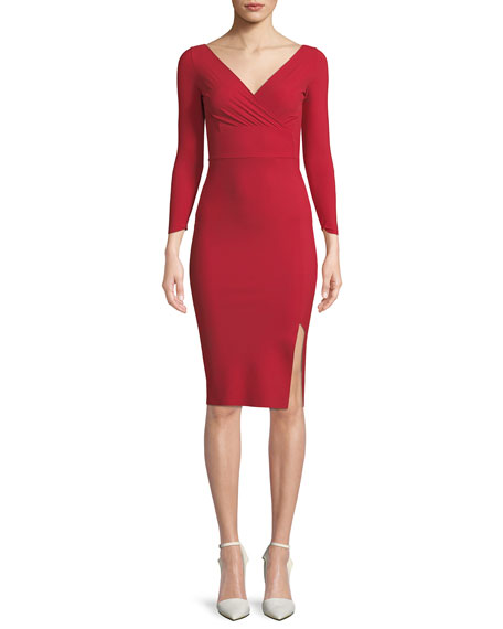 Chiara Boni La Petite Robe Iza Mock-Wrap Dress