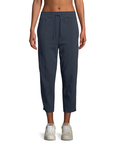 Cropped Side-Stripe Track Pants