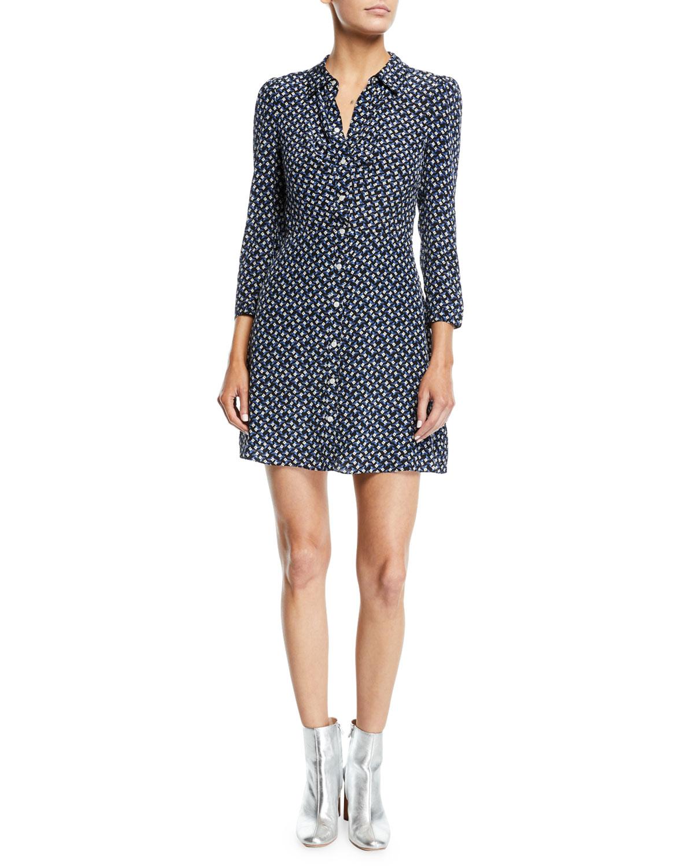 72e40452a45 Veronica Beard Kingsley Floral Snap-Front Shirtdress