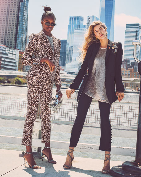 Rebecca Taylor Structured Leopard-Print Velveteen Jacket