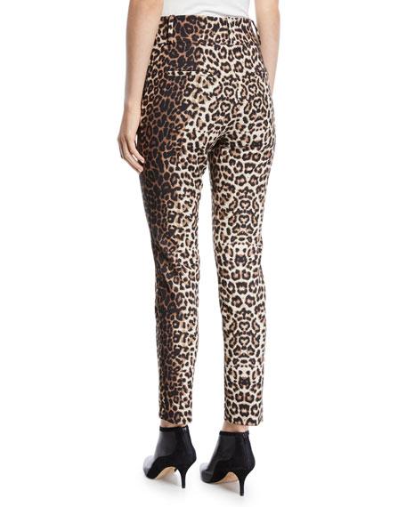 Lago Leopard-Print Straight-Leg Trousers