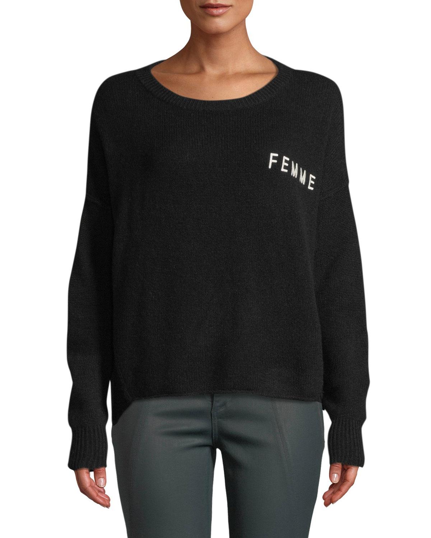 3ec79fda7b4 360Sweater Femme Scoop-Neck Cashmere Sweater