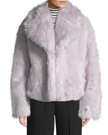 Grant Long-Sleeve Faux-Fur Jacket