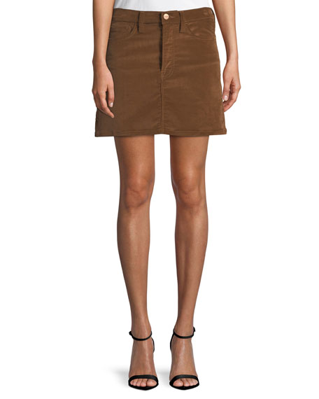 FRAME Le Mini Stretch Corduroy Skirt
