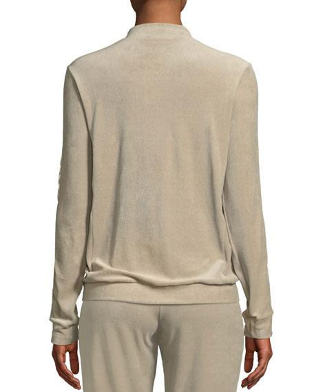 Hanro Favorites Velvet Zip-Front Lounge Track Jacket
