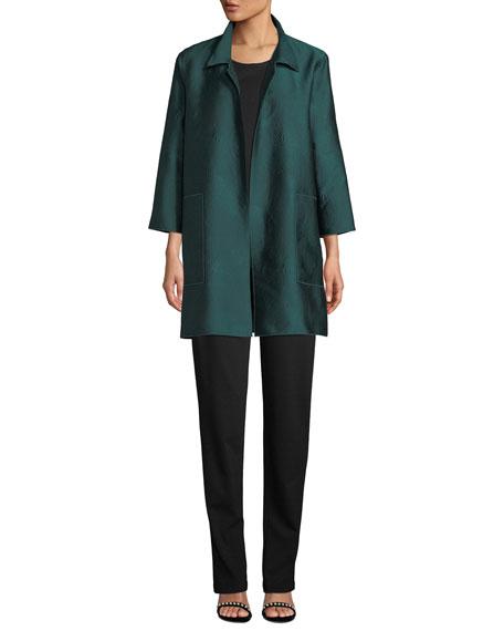 Caroline Rose Zen Garden Jacquard Shirt Jacket, Petite