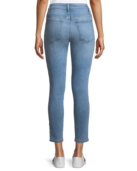 The Charlie Ankle Skinny Jeans w/ Velvet Stripes