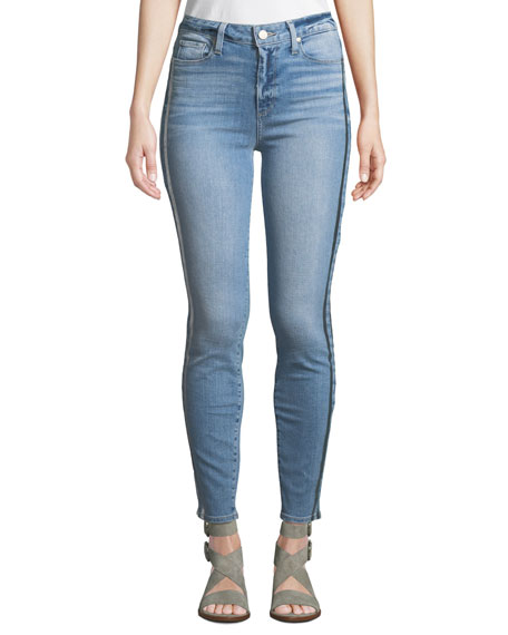 Hoxton Ankle Skinny Jeans w/ Racing Stripes