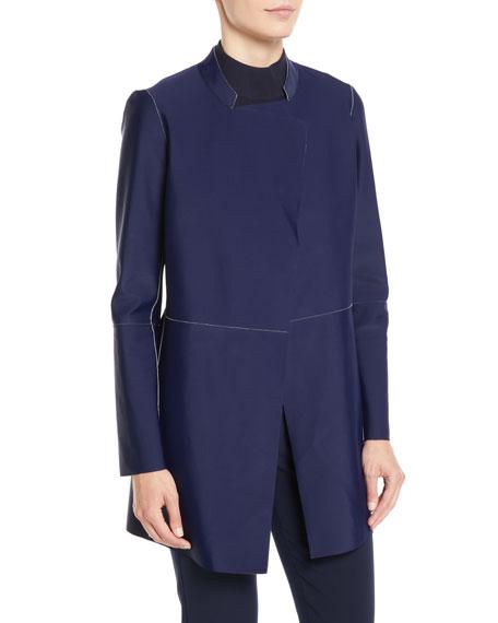 St. John Collection Bonded Napa Leather Reversible Jacket