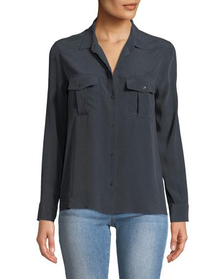 Rails Rhett Button-Front Long-Sleeve Pocket Shirt