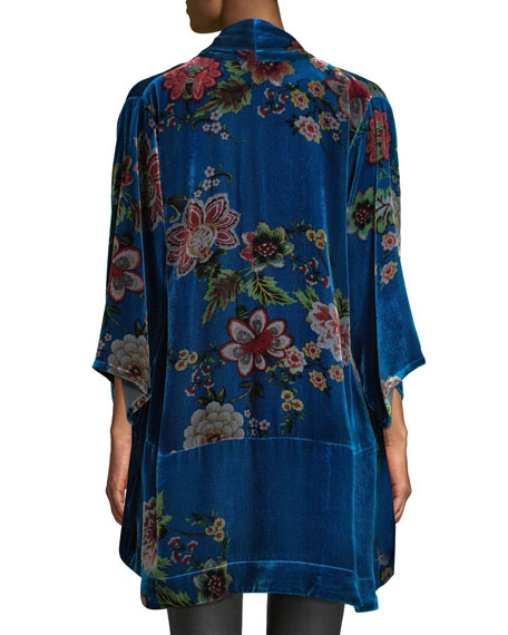 Johnny Was Plus Size Vivian Printed Velvet Kimono Jacket