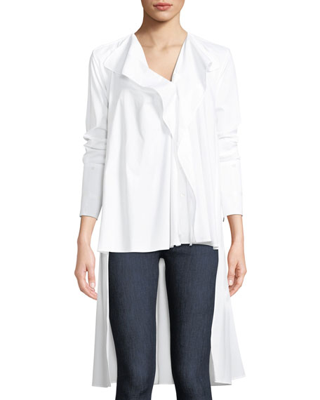 Dusk High-Low Button-Front Top