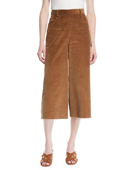 See by Chloe Wide-Leg Corduroy Cropped Pants