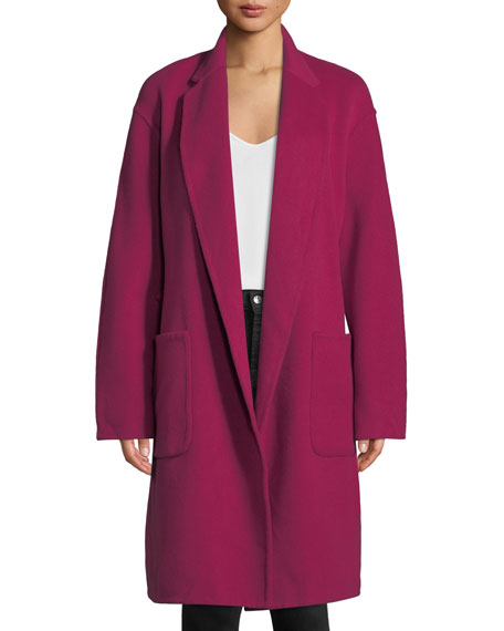 Paige Belted Wool-Blend Coat