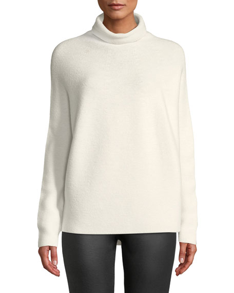 CHRISTIAN WIJNANTS Kolkata Round-Knit Wool Turtleneck Sweater in White